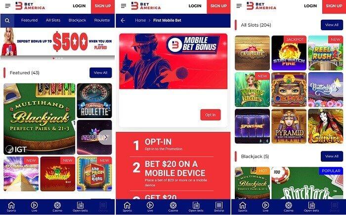 betamerica casino mobile