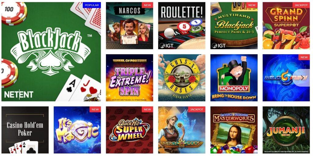 betamerica casino games