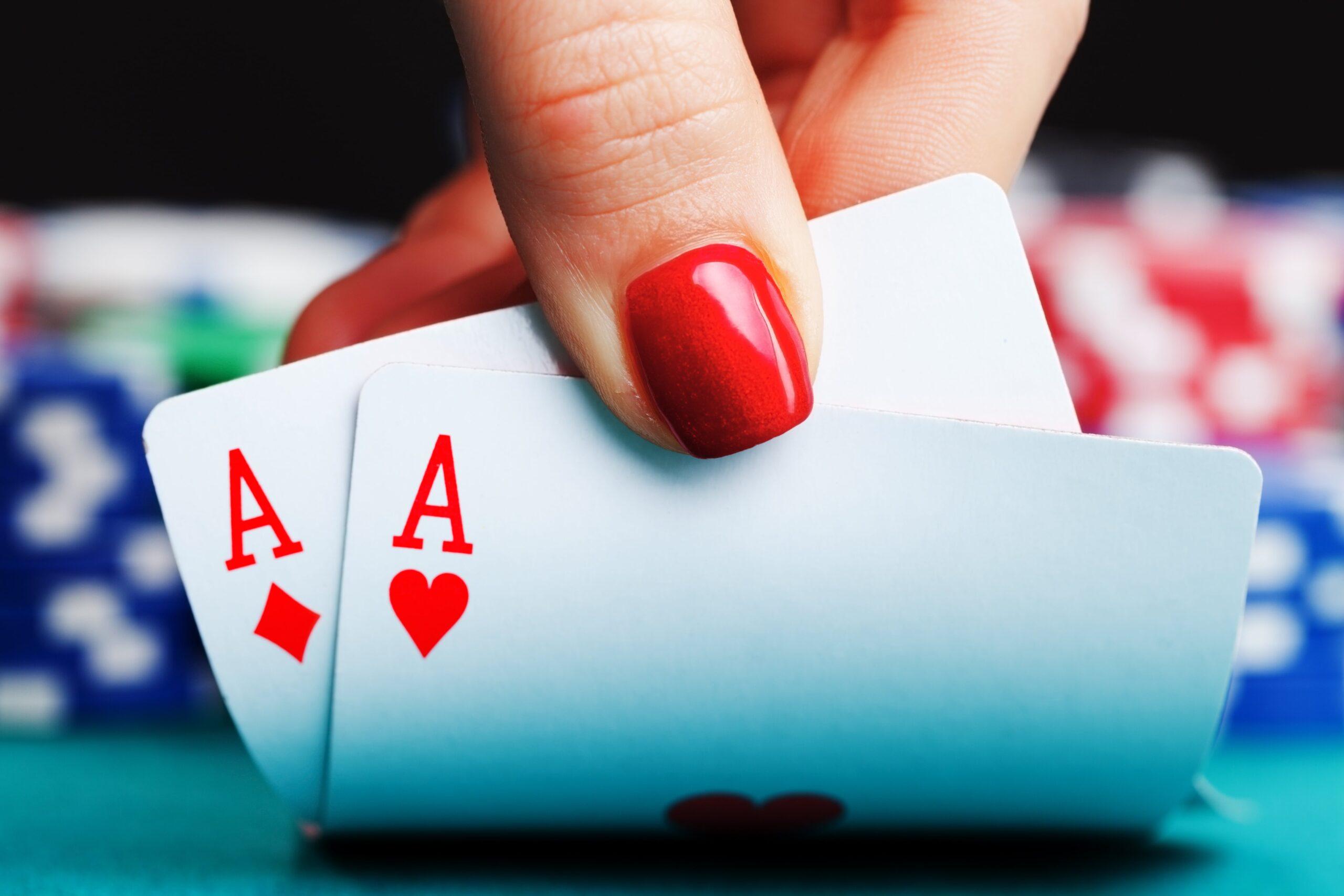 women playing casino games